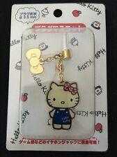 Hello Kitty Sanrio Japan Swing Charm Character Bow Pin Earphone Jack NEW