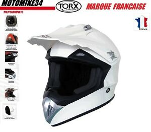 CASQUE-BLANC-TAILLE-M-moto-enduro-scooter-quad-dirt-Homologue-E9-CASCO-HELMET