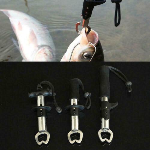 Stainless Steel Fishing Gear Gripper Lip Grabber Grip Fish Tool Tackles Tri J0C1