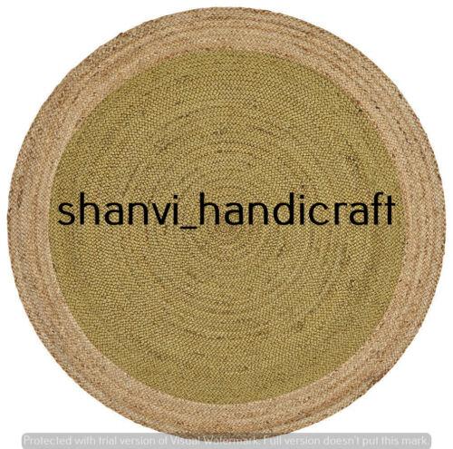Round Bohemian Braided 6 Feet Rag Rug Outdoor /& Indoor Jute Rug Area Rugs Carpet
