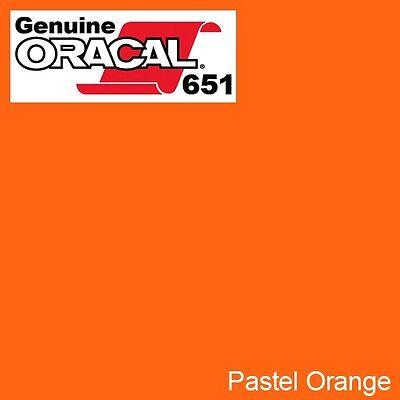 "ORACAL 651 Orange Red Gloss Vinyl Wrap Film 12/"" x 10ft Solvent-Based Adhesive"