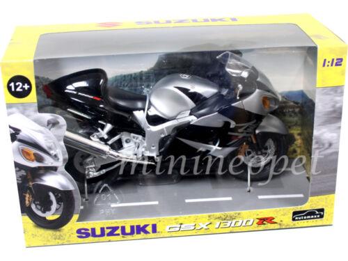 AUTOMAXX 600203 SUZUKI GSX 1300 R HAYABUSA BIKE MOTORCYCLE 1//12 BLACK SILVER