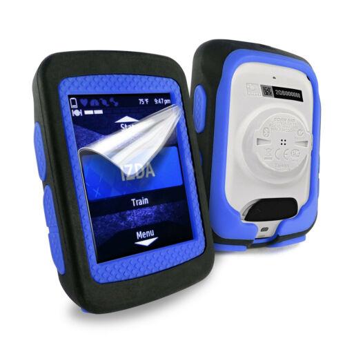520 Plus TUFF LUV Silicone Twin Skin Case for Garmin Edge 520 Black Blue