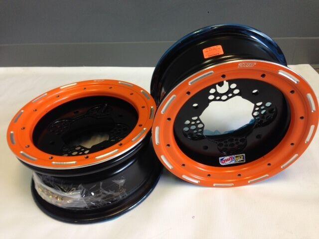 Dwt Rok 'n Lock Vorne Vorne Vorne Orange Beadlock Felgen 10   10x5 4 144 Honda TRX 400ex e61547
