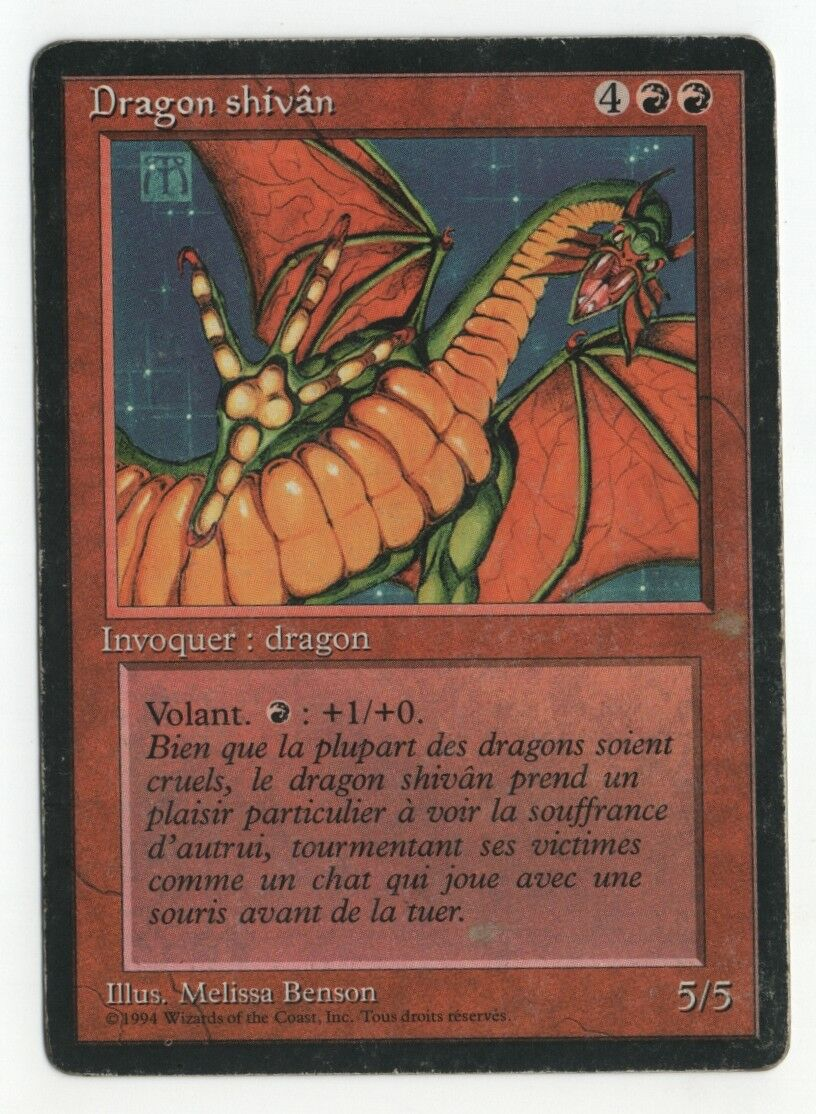 Shivan Dragon FBB French MTG HP See Scans