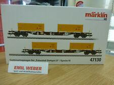 MHI passend zu 39225 **Märklin 47689 H0 Container-Tragwagen-Set der DB Neu**