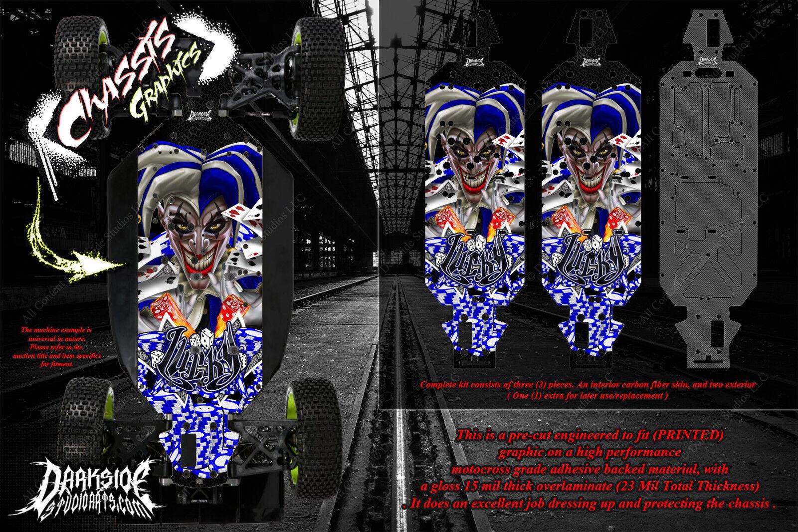 Envoltura de chasis LOSI 5IVE-T Calcomanía 'LUKCY' Hop Up Kit Skid Placa De Projoección