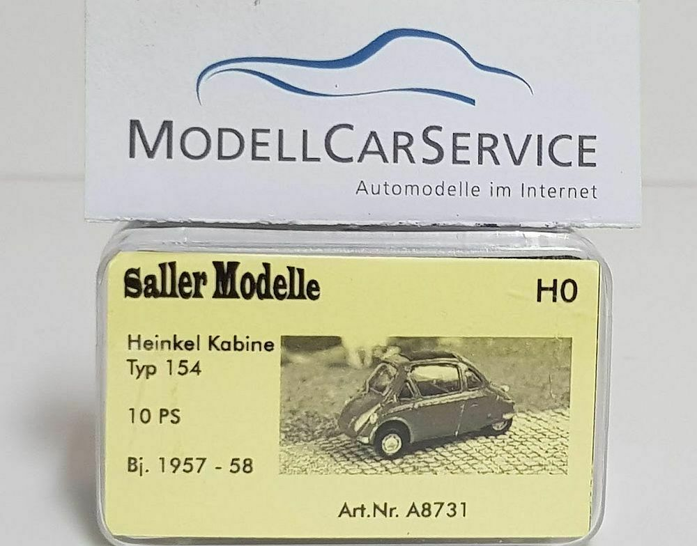 Saller -models 1 87  A8731 Heinkel Cabin Type 154, 10 Ps (Bj.1957-58), Red