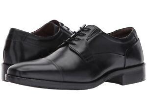 Johnston & Murphy Lancaster Cap Black Dress Shoe