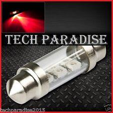 2x Ampoule 41mm 42mm C5W C7W C10W LED Bulb 3 SMD Rouge Red Navette Festoon