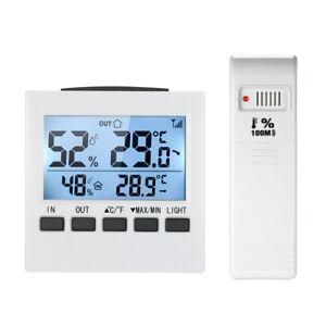 LCD-Digital-Wireless-Indoor-Outdoor-Thermometer-Hygrometer-Humidity-Meter-K5U9