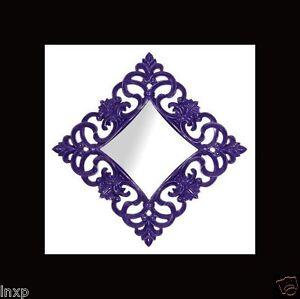 Espejo-de-pared-100-X100-Cuadrado-barroco-en-Piano-Purpura-Adornos-WOW-NUEVO