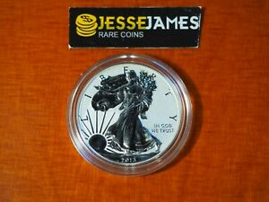 2013-W-REVERSE-PROOF-SILVER-EAGLE-FROM-WEST-POINT-SET-ONE-COIN-IN-CAP