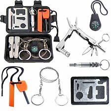Emergency Survival Kit Outdoor Gear Camping Hiking Travel Disaster Tactical Case