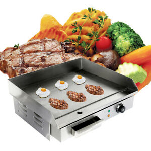 Electrique-Barbecue-Plancha-Chauffante-Griddle-Plaque-BBQ-Gril-inox-comptoir-3KW