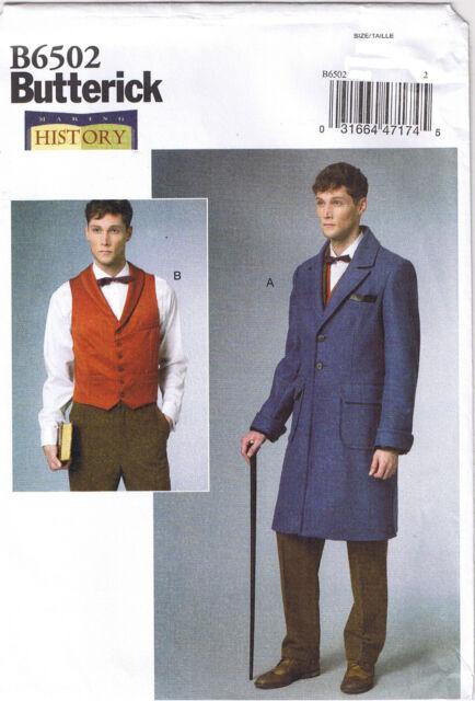 Männer viktorianisch Mantel weste Kragen Rollenspiel Butterick 6502 ...