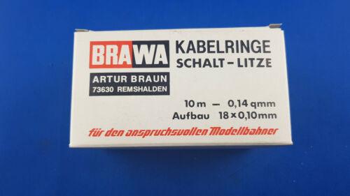 BRAWA 10 Kabelringe à 10m x 0,14 qmm weiß in unbenutzt in OVP
