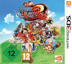 One-Piece-Unlimited-World-Red-Nintendo-3DS-DS-Spiel-Keep-Case-Deutsch-Neu-OVP