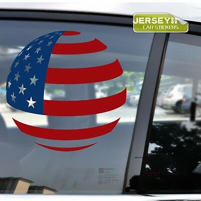 Flag of United States USA American Flag Global Earth Car Trunk Decal Sticker