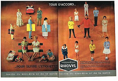 Persevering A 2 Pages Les Vetements Et Sous Vetements Rhovyl New Varieties Are Introduced One After Another Publicité Advertising 1961