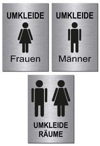 Hinweis-Pfeil links//rechts-Alu-Edelst-Optik-Schild-15 x 10 cm-Toilette-WC-Bad