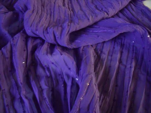 P Arrugada de gasa con Lentejuelas-Púrpura-Tela del vestido-Free P