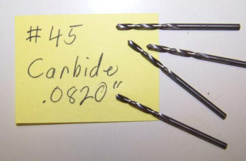 "No.45 NOS #45 Number 45 .0820/"" Solid Carbide Twist Drill"