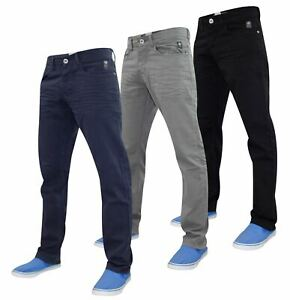 Crosshatch-Hombre-Denim-Jeans-Corte-Recto-Pantalones-Pantalones-todos-los-tamanos-de-la-cintura