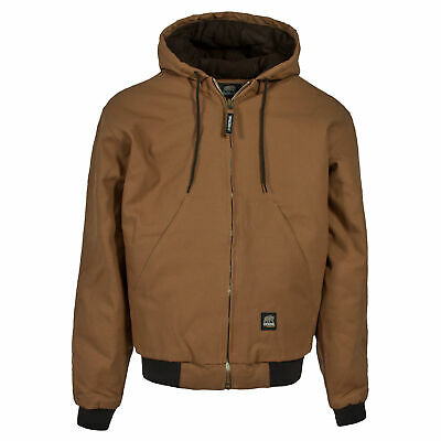 Berne Mens Brown Duck 100 Cotton Hooded Jacket Ebay