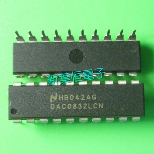 1PCS NEW DAC0832LCN DAC0832 0832 DIP-20 8-BIT D//A CONVERTER IC