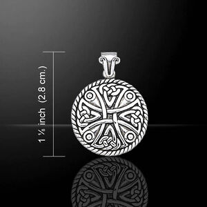 Celtic Knotwork Cross .925 Sterling Silver Pendant by Peter Stone Jewelry