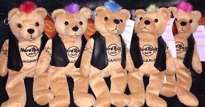 5-Hard-ROCK-Cafe-SINGAPORE-2010-PUNK-ROCK-Teddy-Bearas-Mohawk-Plush-Bear-ARCHIVE