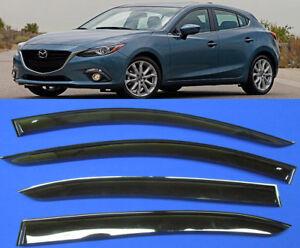 car-smoke-Mazda-3-sd-hb-TINT-WINDOW-VISOR-SHADE-VENT-WIND-RAIN-DEFLECTOR-13