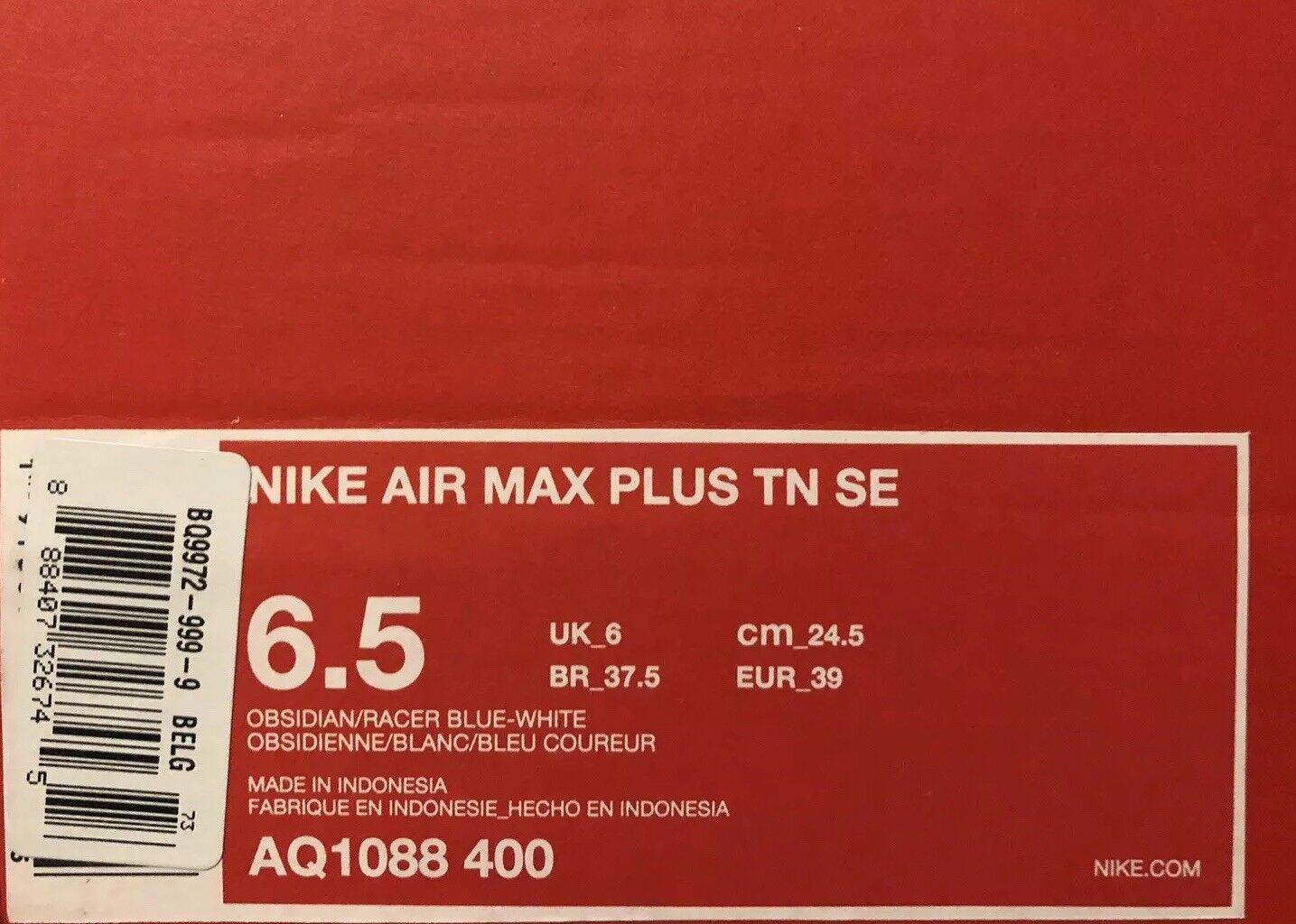 Details about Mens NIKE AIR MAX PLUS TN SE Obsidian Trainers AQ1088 400 Size 12