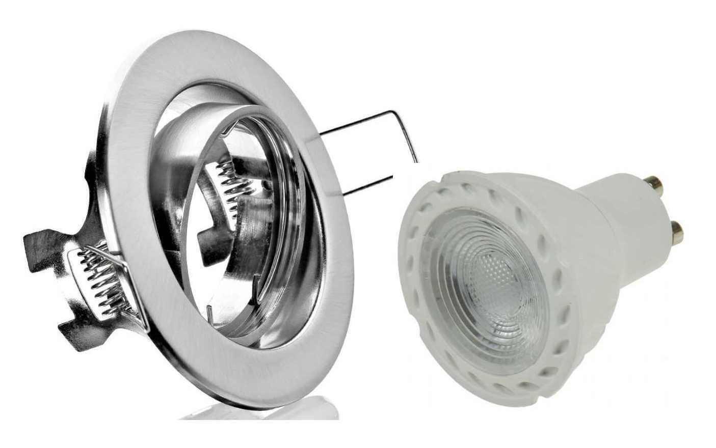 10xLed Einbaustrahler Spot Lampe nm+5Watt roter Led 230V Dekoleuchte