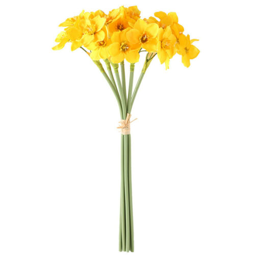 6PCS Soie Artificielle Narcisse Jonquille Fleur Bouquet Maison Mariage Fête Utilisation