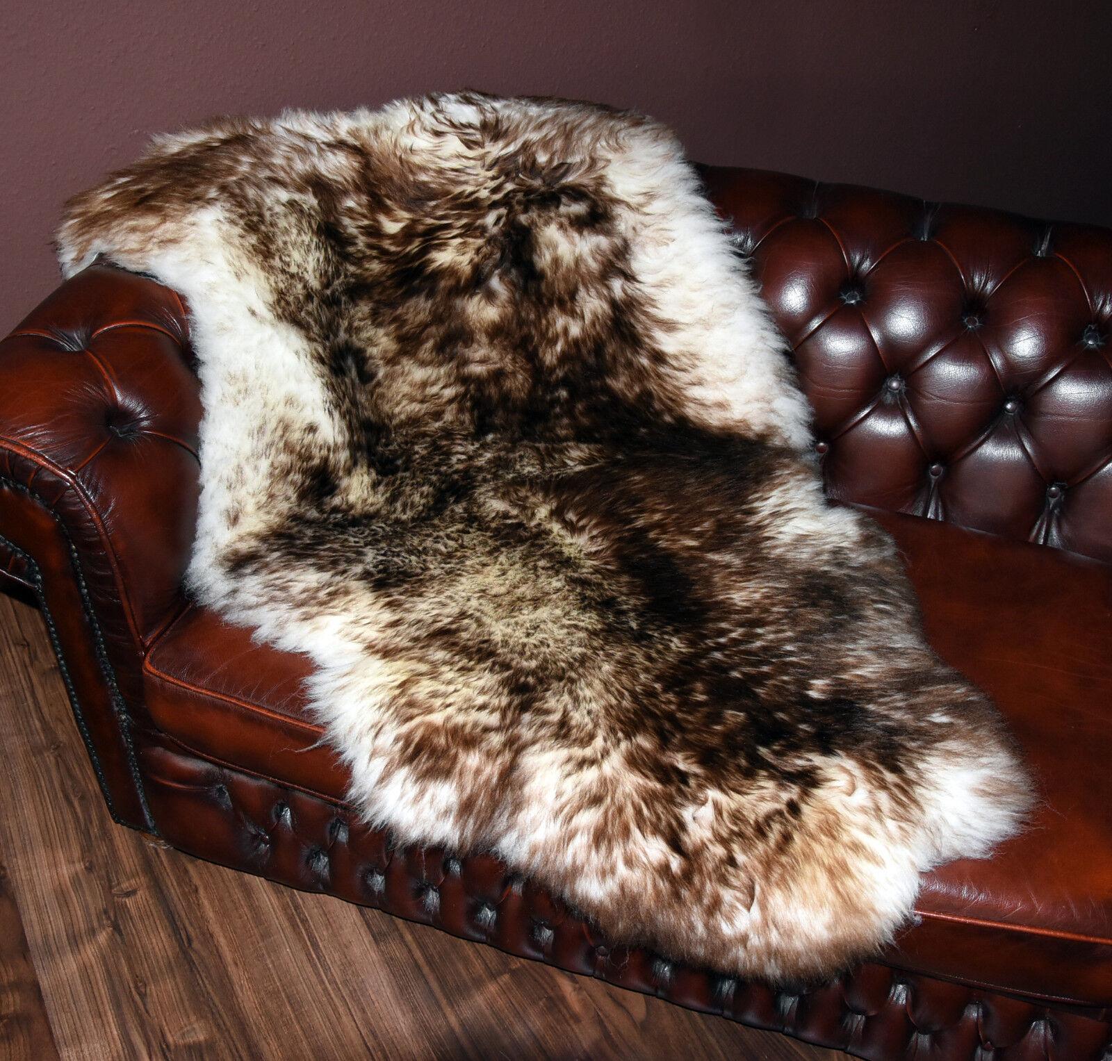 GIGANTE Pecora Agnello Pelo Pelliccia naturale Giant SHEEPSKIN RUG tagliati 143x85cm
