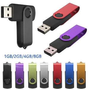 32GB 16GB Swivel Flash Memory Stick Pen Drive Storage Metal USB 2.0 Backup LOT