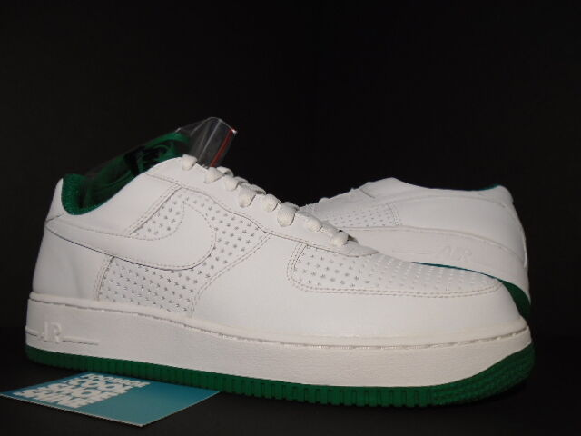 2006 Nike Air Force 1 Low PERFORATED STARS WHITE PINE GREEN 313642-131 NEW 11