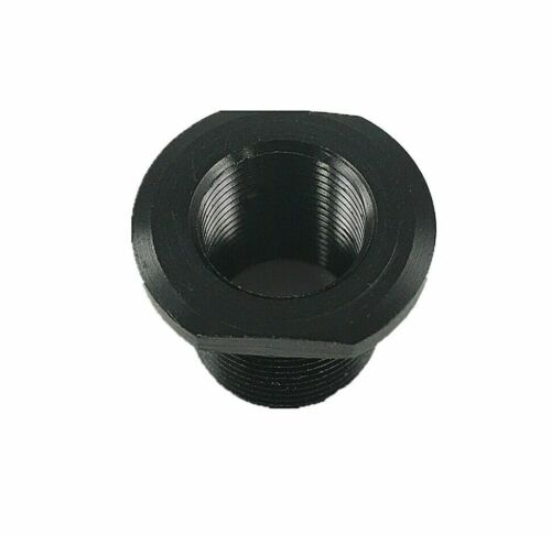 Aluminum Adapter to Convert 1//2x28 TPI Thread to 5//8x24 TPI Thread