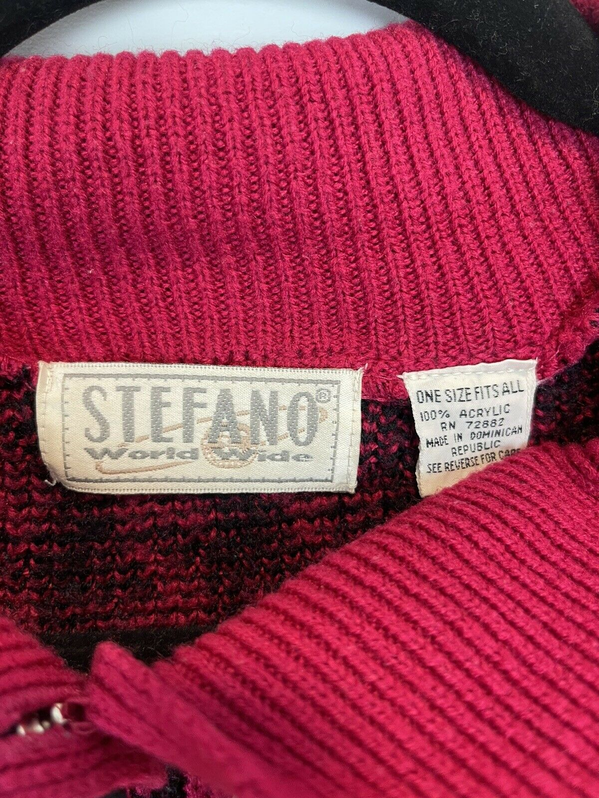 Vintage Stefano World Wide Hot Pink Fuchsia Black… - image 7