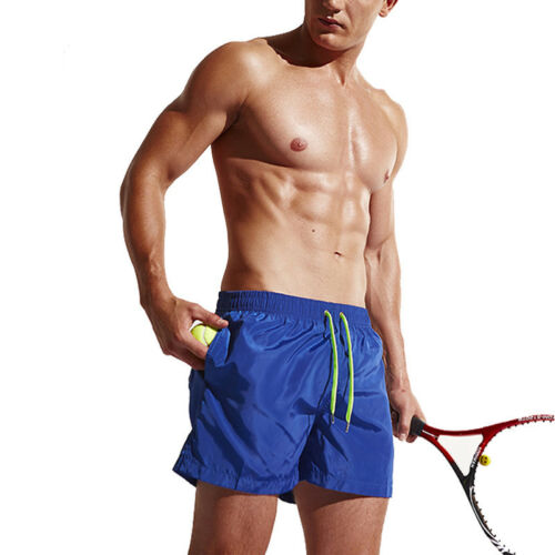 Mens Beach Shorts Trunks Quick Dry with Pockets for Surfing Running Jogger Pants