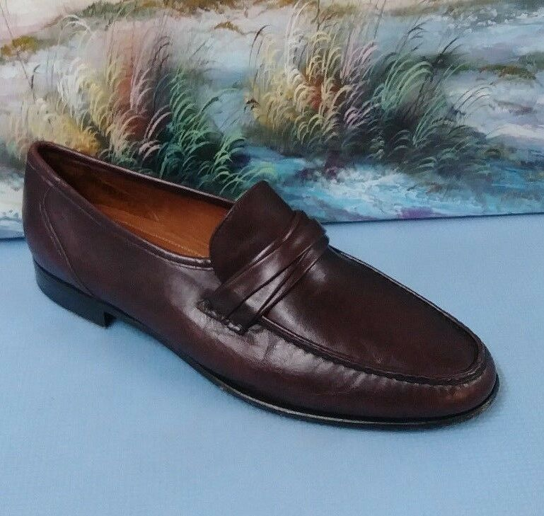 Allen Edmonds Bergamo Loafer Casual Dress shoes Mens 10.5 B Style 49070 Oxblood