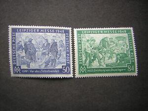Briefmarke 1948 Satz postfrisch Leipziger Frühjahrsmesse Sonderausgabe 967 968 - Gevelsberg, Deutschland - Briefmarke 1948 Satz postfrisch Leipziger Frühjahrsmesse Sonderausgabe 967 968 - Gevelsberg, Deutschland