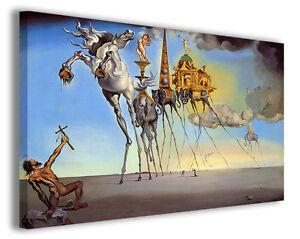 Dettagli su Quadri famosi Salvador Dali\' vol XVII Stampa su tela arredo  moderno arte design