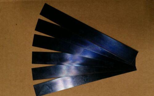 "Blue Tempered Spring Steel Shim 0.028/""  x 1/"" x 6/"" THREE  pieces"