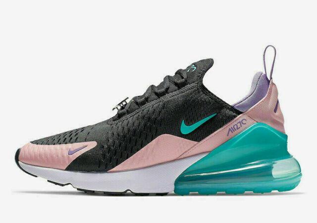 Nike Men S Air Max 270 Running Sneakers Mesh Black Pink Jade Size