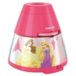 Princesa-Disney-LED-Lampara-Mesilla-amp-Proyector-Philips