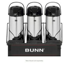 Stainless Steel BUNN 35728.0002 Universal UNIV-3 APR Airpot Rack with 3 Lower Holders