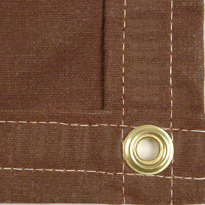 Details about Sigman 12' x 16' Heavy Duty Cotton Canvas Tarp 18 OZ - Brown  - Made in USA - New